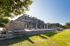 Temple of the Warriors Templo de los Guerreros. Chichen Itza, Yucatan peninsula, Mexico. Royalty Free Stock Photography
