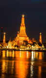 Temple. Wat Arun or Temple of Dawn at night, Bangkok Stock Photography