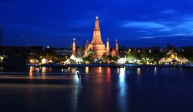 Temple. Wat arun temple at the riverfront Stock Photography