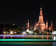 Temple. Wat arun temple at the riverfront Royalty Free Stock Photos