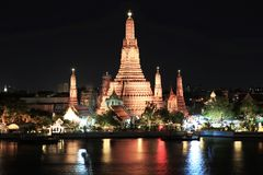Temple. Wat arun temple at the riverfront Royalty Free Stock Image