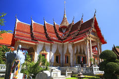 The temple Wat Chalong, Phuket, Thailand Royalty Free Stock Photo