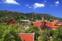 The temple Wat Chalong, Phuket, Thailand Royalty Free Stock Photography