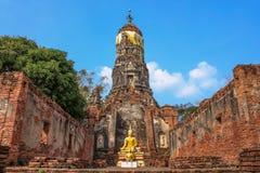 Temple Wat Choeng Tha à ayutthaya, Thaïlande jpg Image stock