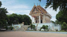 Temple Wat Khunaram on Koh Samui in Thailand stock footage video stock footage