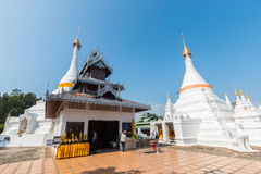 Temple Wat Phra That Doi Kong Mu. Mae Hong Son Royalty Free Stock Photos
