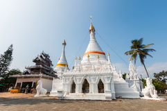 Temple Wat Phra That Doi Kong Mu. Mae Hong Son Stock Photo