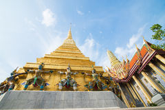 The temple Wat phra kaeo. In the Grand palace area, one of the major tourism attraction in Bangkok, Thailand Stock Image