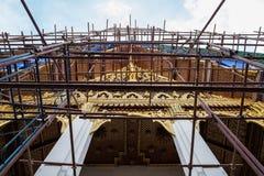 A temple in Wat Phra Kaew on maintenance Royalty Free Stock Photo