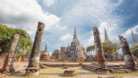 Temple wat Phra Si Sanphet antiquity beautiful Ayutthaya. stock video