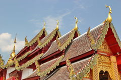 The temple at Wat Phrathat horkham , Chiang Mai ,, Thailand stock photos