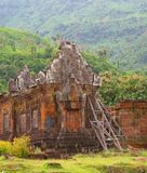 Ancient Khmer temple Wat Phu in the jungle,Laos  Royalty Free Stock Images