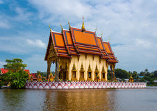 Temple from Wat Plai Laem complex Stock Photography