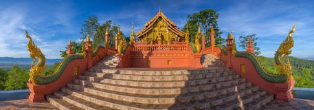 Temple,Wat Pra That Doi Pra Chan Mae Tha royalty free stock photo