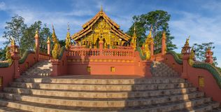 Temple,Wat Pra That Doi Pra Chan Mae Tha stock photos