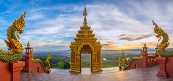 Temple,Wat Pra That Doi Pra Chan Mae Tha stock images