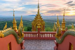 Temple,Wat Pra That Doi Pra Chan Mae Tha royalty free stock photography