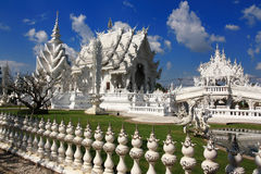 Temple. Wat Rong Khun, Chiang Rai Stock Images