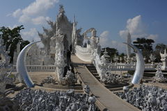 The temple of Wat Rong Khun at Chiang Rai Stock Photos