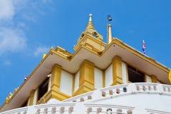 Temple Wat Saket, the golden mountain Stock Image