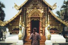 Temple Wat sri don chai pai thailand travel Thai Art. Temple Wat sri don chai pai thailand travel Thai Stock Photo