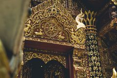 Temple Wat sri don chai pai thailand travel Thai Art. Temple Wat sri don chai pai thailand travel Thai Royalty Free Stock Photo