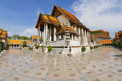 Temple of Wat Suthat Thep Wararam Stock Photos