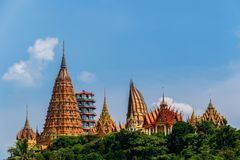 Wat Tham Sua temple in Kanchanaburi, Thailand. The Temple of Wat Tham Sua on a hilltop just outside of Kanchanaburi, Thailand Stock Photography