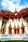 Temple Wat Thewarat at the river Mae Nam Chao Phraya Stock Photo