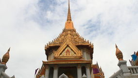 Temple of Wat Traimit, Golden Buddha stock video footage