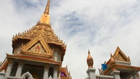 Temple of Wat Traimit, Golden Buddha stock footage