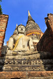 The temple of Wat Yai Chai Mongkol in Ayutthaya near Bangkok, Th Stock Photo