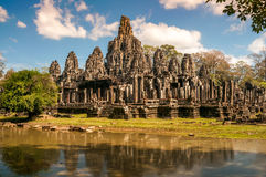 Temple of The Water. Bayon Temple of The Water Stock Photos