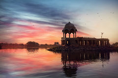 Temple on the water in India Stock Images