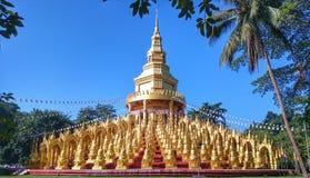 Temple. WatPaSawangBun pagoda travel gold Saraburi-Province Thailand stock image