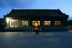 Temple in wee hours Stock Image