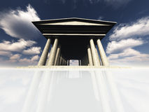 Temple on White. High-resolution Temple on White Royalty Free Stock Images