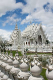 Temple. White temple in northen part of Thailand Royalty Free Stock Photography