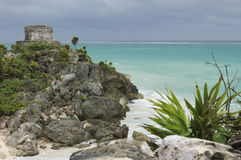 Temple of the wind in Tulum, stock photos