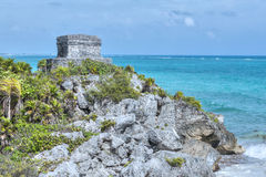 Temple of the Wind in Tulum Stock Images