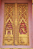 Temple window. With thai architecture and paint royalty free stock photo