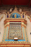 Temple window. Wood with thai architecture and painting royalty free stock photography