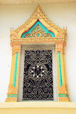 Temple window. Temple wood window with thai paint stock photos
