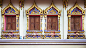 Temple windows Royalty Free Stock Photography