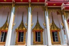 Temple windows vintage Thai style Royalty Free Stock Photo