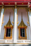 Temple windows vintage Thai style Royalty Free Stock Photography