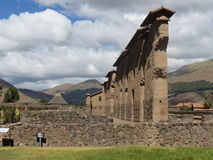 Temple of Wiracocha  1. Incan built Temple of Wiracocha. Located at Raqch`i in the Cusco region of Peru Royalty Free Stock Photography