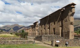 Temple of Wiracocha  2. Incan built Temple of Wiracocha. Located at Raqch`i in the Cusco region of Peru Royalty Free Stock Photos