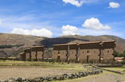 The Temple of Wiracocha in Raqchi ,Peru royalty free stock images