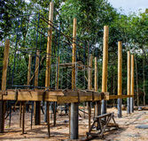Temple wood construction Royalty Free Stock Photography